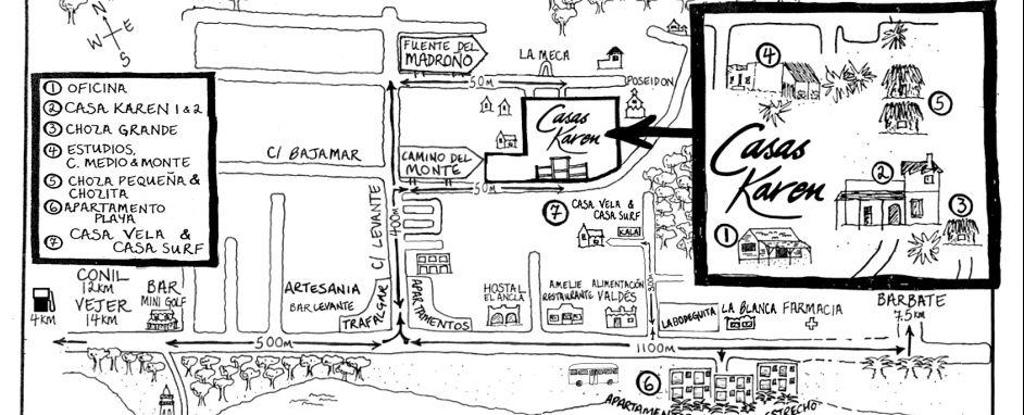 Plano Ubicación Casa Surf y Vela